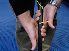 overlapping grip Das persönliche Setting beim Putten