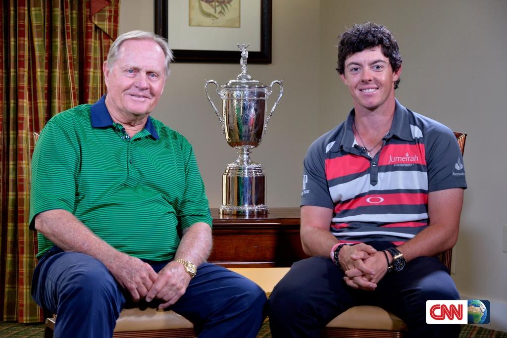 Rory McIllroy und Jack Nichlaus. Fotos: CNN.