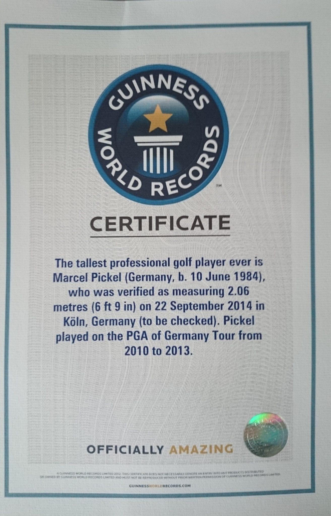 größter golf professionell Golf Rekord: Der größte Golf Professional