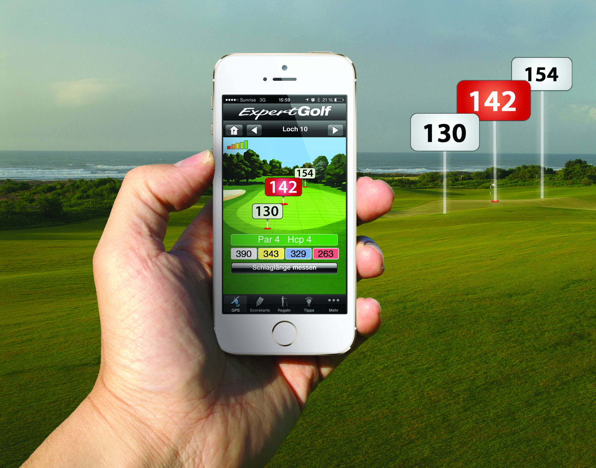 Iphone App Golf Entfernungsmesser : Golfshot plus golf gps im app store